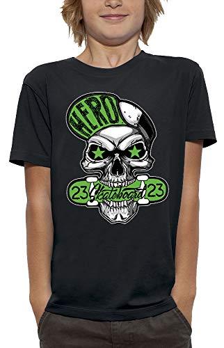 PIXEL EVOLUTION T-Shirt SCHÄDEL Hero Skateboard Kind - größe 9/11 Jahre - Schwarz