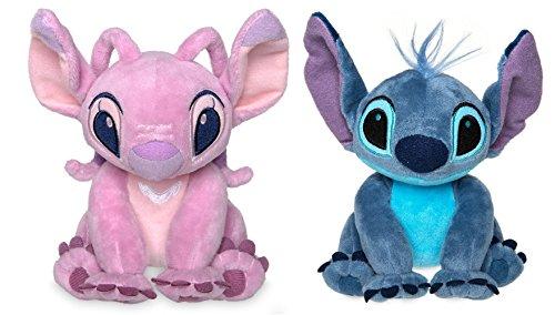 Disney Store Stitch & Angel Mini Plush Doll Set - Lilo & Stitch - 6 Inch Seated