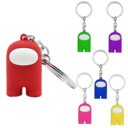 Fovely Among Us Key, Cute Game Figures Keychain Cartoon Doll Keychain Collection Party Gift for Phone Backpack Accessories