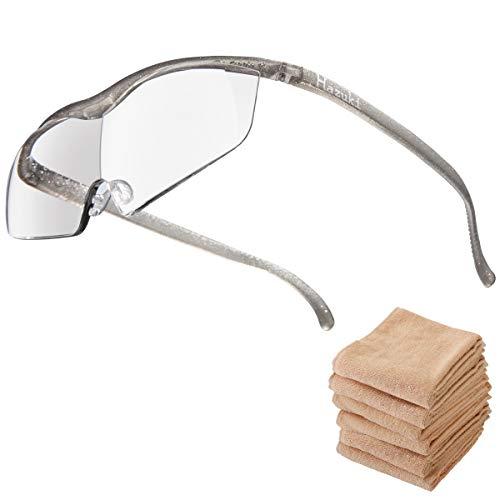 Hazuki ハズキルーペ ラージ 1.6倍 ブルーライト対応 クリアレンズ チタンカラー (全9色) 【正規代理店品・メーカー保証付】 セブンエステ製フェイスタオル付 [ ハズキ 拡大眼鏡 拡大鏡 拡大レンズ 拡大メガネ 眼鏡型 めがね型 メガネタイプ