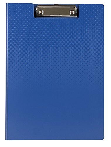 Idena 14024 Klemmbrettmappe A4, mit Deckel und Einstecktasche innen blau