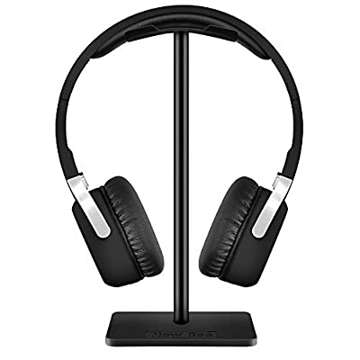 New Bee Headphone Stand Headset Stand Headphone Holder Universal Aluminum Gaming Headset Holder Earphone Display Earbuds Mount For All Headphones (Black) from New Bee