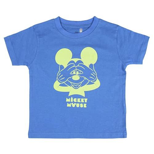Cerdá Pijama Que Alumbran en la Oscuridad Niño de Mickey Mouse-Camiseta +...