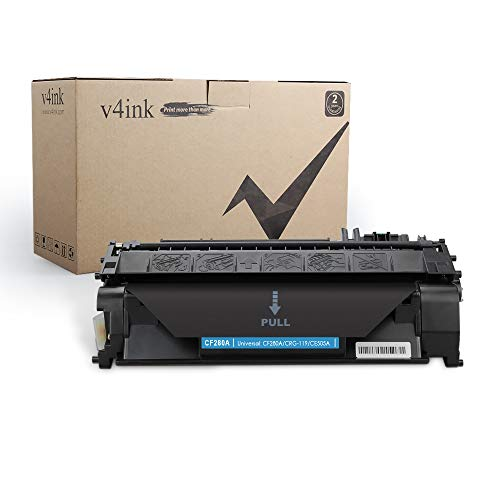 V4INK Compatible Toner Cartridge Replacement for HP 08A CF280A Toner Cartridge Black Ink for use in HP LaserJet Pro 400 M401N M401DN M401DNE M401DW Printer, HP LJ Pro 400 MFP M425DN M425DW Printer