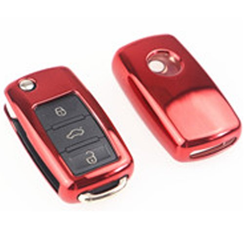 Keycarry Funda para Llave de Coche de plástico Suave, Accesorios universales para Volkswagen, VW, S
