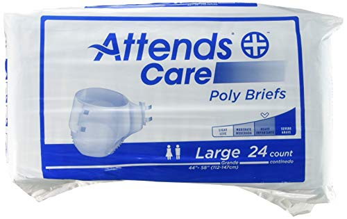 Attends Heavy Incontinence Briefs BR30 Size Large 1 Pack of 24