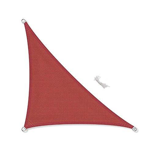 XIAOLIN Triangle Résistant à l'eau Patio Jardin Soleil Voile d'ombrage Auvent 96% UV bloc avec corde libre