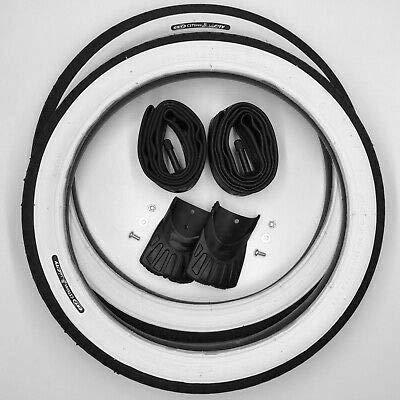 CST 2X Weißwand Reifen 16 Zoll + AV Schläuche + 2 Schmutzfänger Schutzblech Decke Mantel Fahrrad Klapprad 16 x 1.75 | 47-305