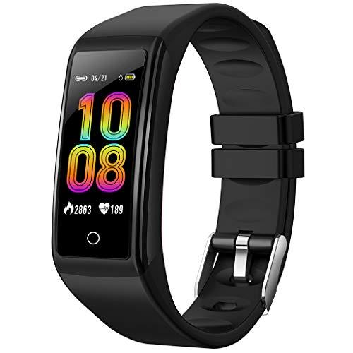 (Neueste 2019)DS8 Smartwatch, Bluetooth 4.0 Fitness Armbanduhr 1.14 Zoll Full Touch Screen IPX7 wasserdichte Sportuhr Mit Pulsmesser Schlafmonitor Musiksteuerung Anruf SNS Kompatibel mit iOS Android