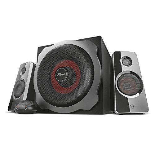 Trust GXT 38 2.1 Gaming Luidsprekersysteem PC Speakers met Subwoofer (voor smartphone, pc & tablet, 120 watt)