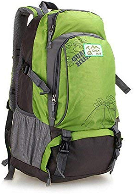 Lounayy Freiensport 55L Sie Im Spielraum Stylisch Wandern Mode Bergsteigen Rucksack Nachhaltig Rucksack Daypack Fashion Backpack Tagesrucksack (Farbe   Grün, Größe   One Größe)