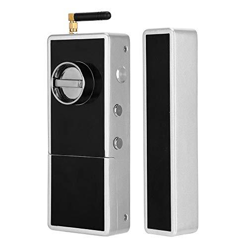 Afstandsbediening Elektronisch slot voor glazen deur met dubbel elektronisch systeem, Smart Keyless Lock met herinnering voor bijna lege batterij, Waterdicht antidiefstalslot, Ondersteuning voor magne