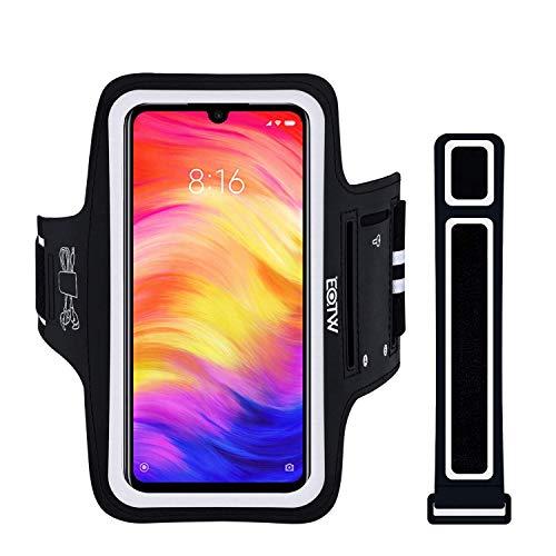 EOTW Brazalete Deportivo para Xiaomi Redmi Note 7/ Note 7S/ Note 7 Pro, Samsung Galaxy S10/S9+/S8 Plus 6.2 Pulgade con Extensor Correa Bandas para Brazo Brazalete Correr para Auriculares y Móviles