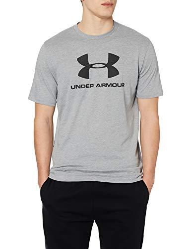 Under Armour, Maglietta Sportiva da Uomo, a Maniche Corte, con Logo, Colore Nero, Taglia S