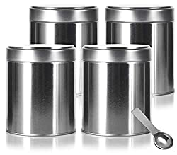 Coffee Station: tea and coffee tins