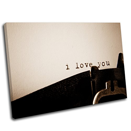 Canvas Culture – Vintage I Love You Gerahmter Kunstdruck auf Leinwand Bild 12, multi, 120x80cm