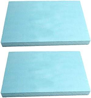 mmasport Espuma de goma para relleno de espuma para cojines de sofás, sillas, palés de jardín, protección de embalaje, modelismo, densidad 30 kg/m3 (40 x 40 x 2,5 cm, 2 unidades), color azul