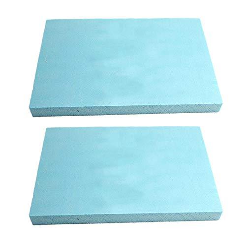 mmasport Espuma de goma para relleno de espuma para cojines de sofás, sillas, palés de jardín, protección de embalaje, modelismo, densidad 30 kg/m3 (60 x 40 x 2,5 cm (2 unidades), color azul