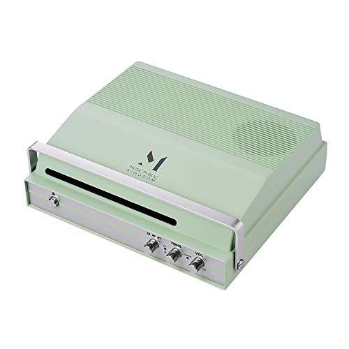 Draagbare sleuf-in-platenspeler voor 7-inch vinyl 2-snelheid (33/45 tpm) BT draaischijf Integrale stereophonie luidspreker batterij met geluid volume muziekinstrumenten & DJ-apparatuur (kleur: groen)