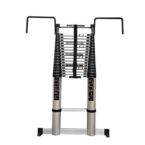 Xinmier 5-7M Telescopic Extension Ladder with Hook and Thick Non-Slip feet Tall Step Ladder Multi-Purpose Extendable Ladder for Climb Builders Loft (Size : 7m/22.9ft)