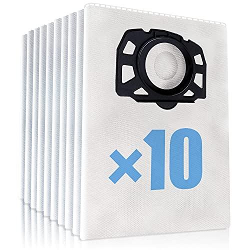 TOPOWN 10 pcs Bolsas karcher WD4 WD5 WD6 WD4 Premium WD5 Premium Sac karcher MV4, MV5 et MV6 Bolsa Aspiradora Karcher Bolsa