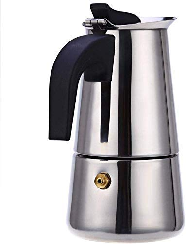 Brand Bucket Stainless Steel Espresso Coffee Maker/Percolator Coffee Moka Pot Maker,8.07 x 4.92 x 3.94 in,Silver
