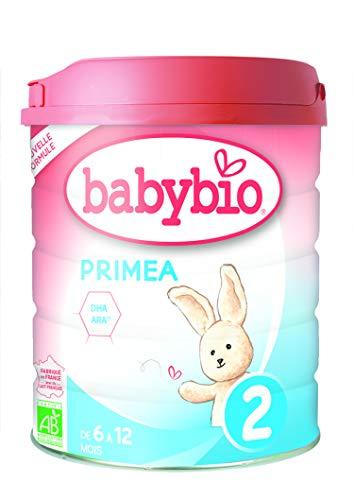 Babybio Formule 2020 Classique au Lait de Vache français - Primea 2 800 g - 6+ Mois - BIO