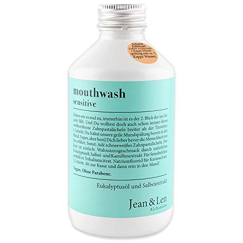 Jean & Len Mundspülung sensitive, mit Eukalyptusöl, Salbei- und Kamillenextrakt, 300 ml, 1 Stück