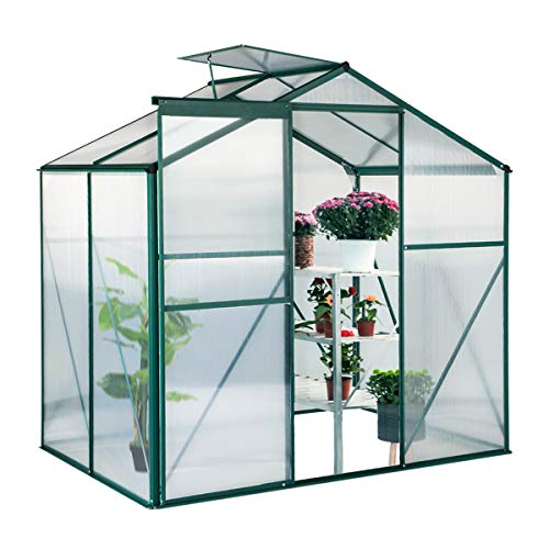 U-MAX Greenhouse Polycarbonate Outdoor Garden Greenhouse Walk-in Portable 4