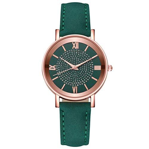 Congci Reloj para Mujer Reloj clásico Elegante con Correa de Cuero para Mujer/niña Reloj de Cuarzo Impermeable