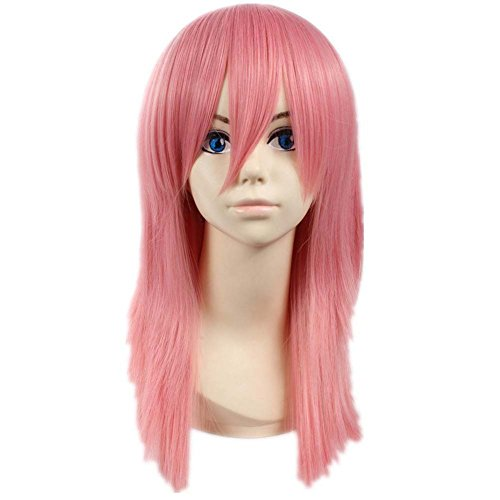 etruke Long Rose droite Naruto Sakura Haruno cheveux pour cosplay perruques