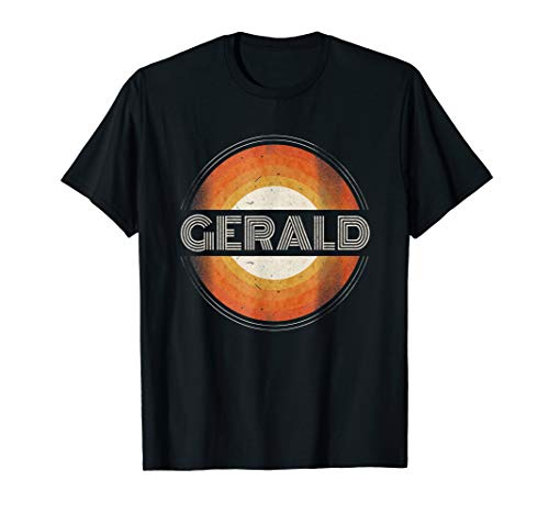 Graphic Tee First Name Gerald Retro Personalized Vintage T-Shirt