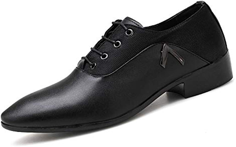 LOVDRAM Men'S shoes Men'S Dress shoes Large Size Pointed Men'S shoes 38-48