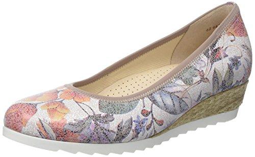 Gabor Shoes Damen Comfort Geschlossene Ballerinas, Mehrfarbig (Multicolor Jute 40), 40.5 EU
