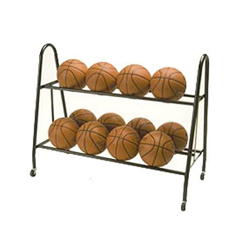 Tandem Sport Ultimate Ball Storage Rack Holds 12 Basketballs