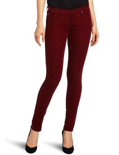 db5faeb101ce8 *AG Adriano Goldschmied Women's Velvet Corduroy Legging Super Skinny Jean,  Garnet, 29/red skinny jeans for women