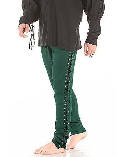 Medieval Pirate Renaissance Cosplay Costume Gothic Death Pants