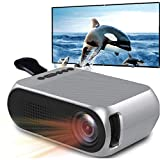 lujiaoshout Proyector Full HD, batería Cine Beamer del Teatro casero Proyector Video Beamer Soporte de Plata Negro Enchufe de la UE