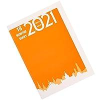 NUOBESTY 2021ノートブックプランナー毎月毎週毎日スケジュールプランニングブックアカデミックカレンダープランナー時間管理パーソナルノートブッククリスマスギフトオレンジ