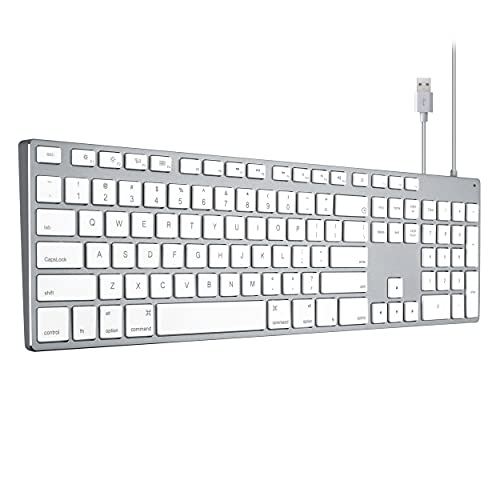 Apple Keyboard Wired USB Wired Keyboard for iMac, Mac Keyboards with Numeric Keypad Aluminum Full Size Compatible with Apple iMac maca Magic MacBook Pro/Air Laptop and Computer Windows PC Teclado