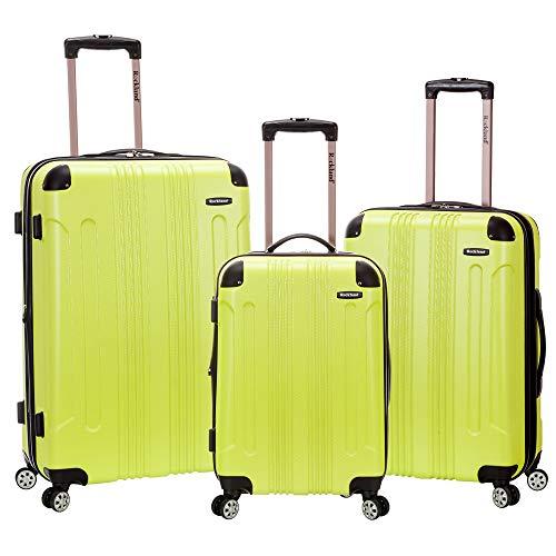 Rockland London Hardside Spinner Wheel Luggage, Lime, 3-Piece Set (20/24/28)