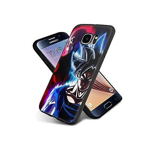 CHblINsUo Conciliable con Samsung Galaxy S6 Edge Funda, Cárcasa Silicona Negra con Dibujos Diseño Suave TPU Antigolpes de Protector Piel Case para Samsung Galaxy S6 Edge #UoB007