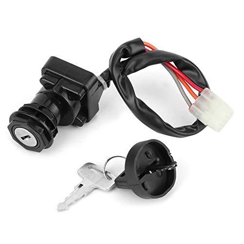 Yctze Motorrad Zündschalter,Auto-Zündschloss mit 2 Schlüsseln als Ersatz für Quadrunner 500 LTF500F