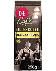 Douwe Egberts Filterkoffie D.E Café Delicaat Rond (Intensiteit 05/09, 100% Arabica Medium Roast Koffie), 6 X 250 Gram