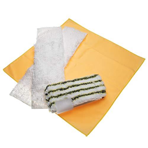 vhbw Mikrofaser-Tuch Set Bad passend für Kärcher DE 4002, SC 1 Floor Kit, SC 1 Premium Floor Kit, SC 1.010, SC 1.020 Dampfreiniger, Dampfmop