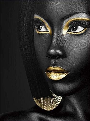 5d pintura de diamantes mosaico de diamantes de imitación mujer africana kit de bordado de diamantes cuadrado/redondo pintura de diamantes A2 50x70cm
