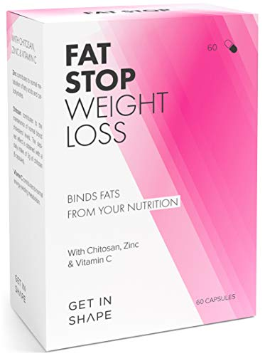 FAT STOP – Binds fats from food and reduces calorie intake (fat blocker with chitosan, high dosage). For a better conscience on cheat days.