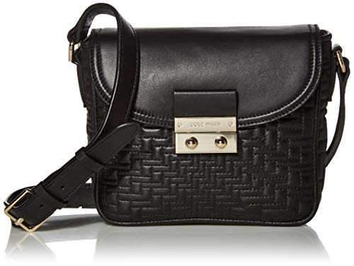 Cole Haan Lock Group Quilted Crossbody, Black