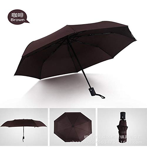 no logo YYouRuiFactory Direct Men's And Women's Business Type Fully Automatic Spot Three-Fold Umbrella Umbrella Custom Wholesale Gift Advertising Umbrella