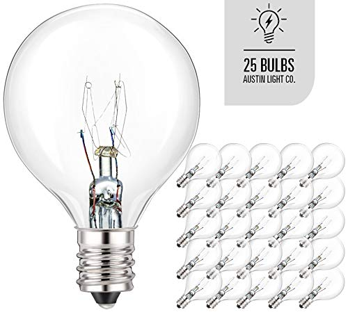 Austin Light Co. - Pack of 25 Glass Globe Light Bulbs